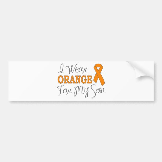 I Wear Orange For My Son (Orange Ribbon) Bumper Sticker