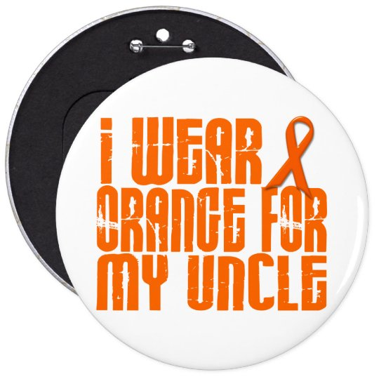 I Wear Orange For My Uncle 16 6 Cm Round Badge