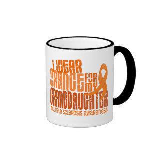 I Wear Orange Granddaughter Multiple Sclerosis MS Ringer Mug
