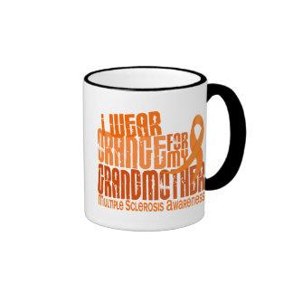 I Wear Orange Grandmother 6.4 Multiple Sclerosis Ringer Mug