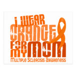 I Wear Orange Mum Multiple Sclerosis MS Postcard