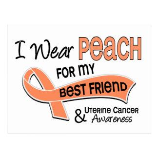 I Wear Peach 42 Best Friend Uterine Cancer Postcard