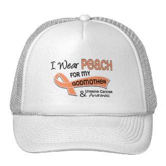 I Wear Peach 42 Godmother Uterine Cancer Trucker Hat