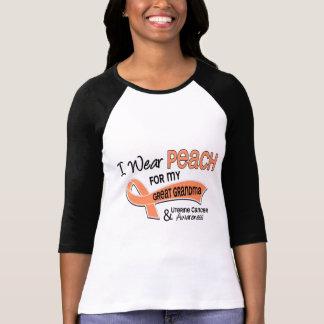 I Wear Peach 42 Great Grandma Uterine Cancer Shirts