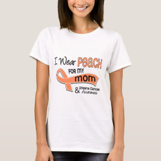 I Wear Peach 42 Mom Uterine Cancer T-Shirt