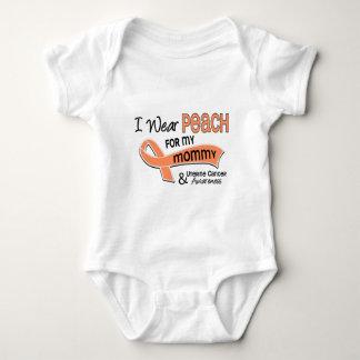 I Wear Peach 42 Mommy Uterine Cancer Shirt