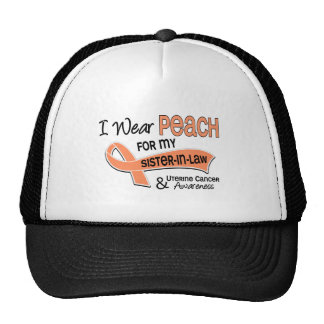 I Wear Peach 42 Sister-In-Law Uterine Cancer Mesh Hat