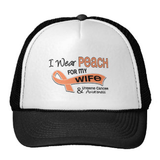 I Wear Peach 42 Wife Uterine Cancer Cap