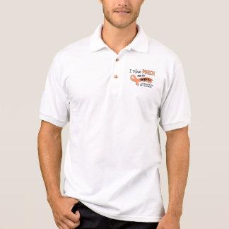 I Wear Peach 42 Wife Uterine Cancer Polo Shirt