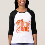 I Wear Peach For Me 6.4 Uterine Cancer T-Shirt