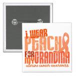 I Wear Peach For My Grandma 6.4 Uterine Cancer Badges