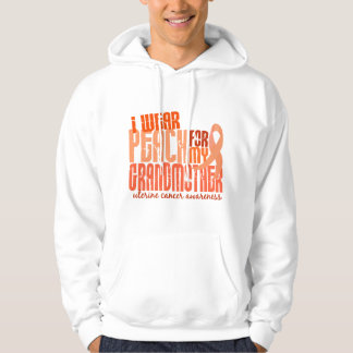 I Wear Peach For My Grandmother 6.4 Uterine Cancer Hoodie