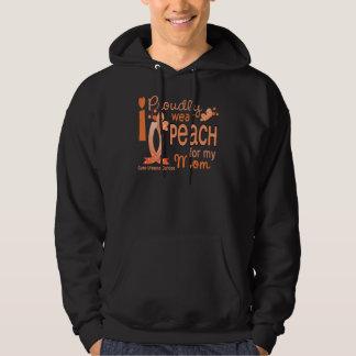 I Wear Peach For My Mom 27 Uterine Cancer Sweatshirt