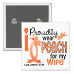 I Wear Peach For My Wife 27 Uterine Cancer Badges