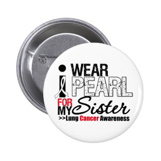 I Wear Peach Ribbon For My Sister Button