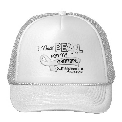 I Wear Pearl For My Grandpa 42 Mesothelioma Hat