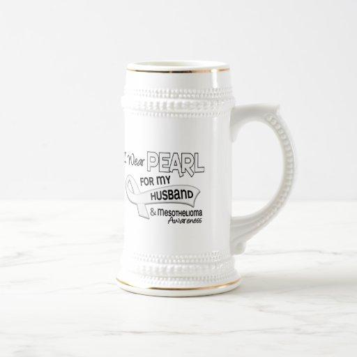 I Wear Pearl For My Husband 42 Mesothelioma Coffee Mug