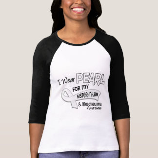 I Wear Pearl For My Sister-In-Law 42 Mesothelioma T-Shirt