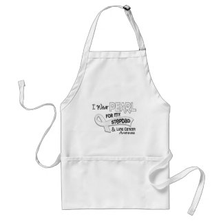 I Wear Pearl For My Stepdad 42 Lung Cancer Apron