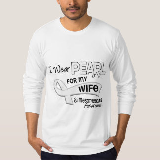 I Wear Pearl For My Wife 42 Mesothelioma T-Shirt
