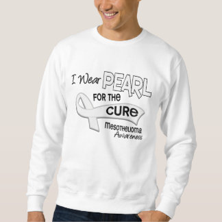 I Wear Pearl For The Cure 42 Mesothelioma Sweatshirt