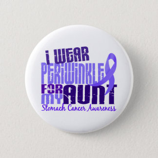 I Wear Periwinkle Aunt 6.4 Stomach Cancer 6 Cm Round Badge