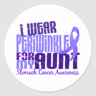 I Wear Periwinkle Aunt 6.4 Stomach Cancer Sticker
