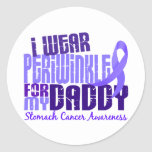 I Wear Periwinkle Daddy 6.4 Stomach Cancer Round Stickers