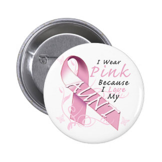 I Wear Pink Because I Love My Aunt 6 Cm Round Badge