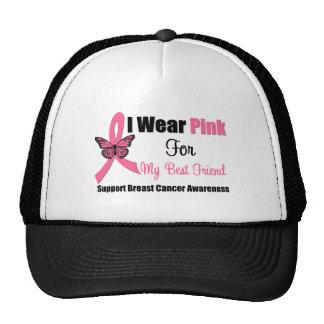 I Wear Pink Butterfly Ribbon For My Best Friend Mesh Hat