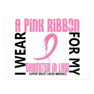 I Wear Pink For Daughter-In-Law 46 Breast Cancer Postcard
