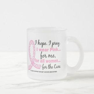 I Wear Pink For ME Filigree Pink Ribbon Coffee Mug