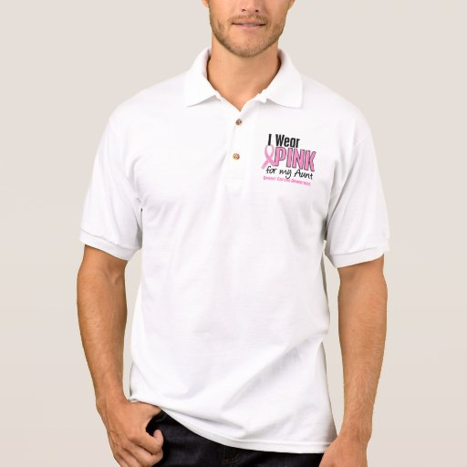 I Wear Pink For My Aunt 10 Breast Cancer Polo T-shirt