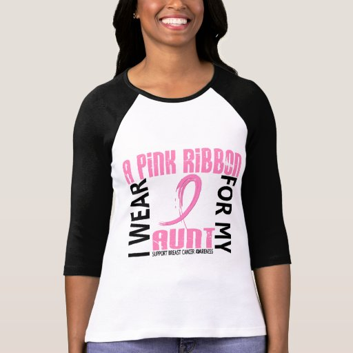 I Wear Pink For My Aunt 46 Breast Cancer T-shirt
