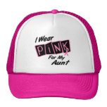 I Wear Pink For My Aunt 8 BREAST CANCER T-Shirts Cap