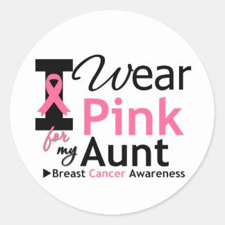 I Wear Pink For My Aunt Round Sticker