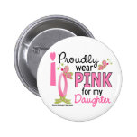 I Wear Pink For My Daughter 27 Breast Cancer Button