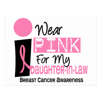 I Wear Pink For My Daughter-In-Law 9 Breast Cancer Postcard