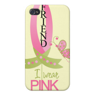 I Wear Pink for my Friend iphone 4 Case