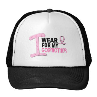 I Wear Pink For My Godmother 21 BREAST CANCER Tees Trucker Hat