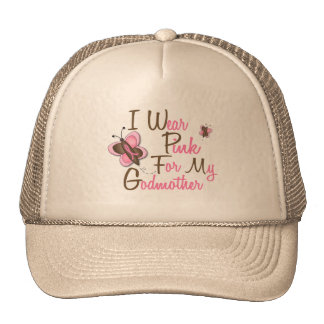 I Wear Pink For My Godmother 22 BREAST CANCER Tees Trucker Hat