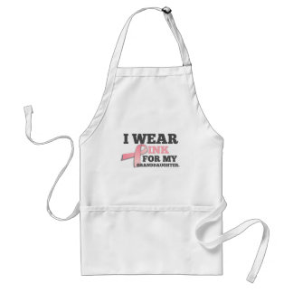 I WEAR PINK FOR MY GRANDDAUGHTER Breast Cancer Standard Apron