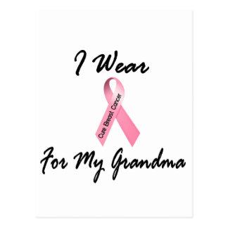 I Wear Pink For My Grandma 1 Breast Cancer Postcard