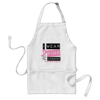 I Wear Pink For My Granny Breast Cancer Adult Apron