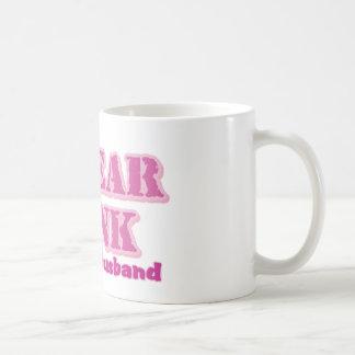 I wear pink for my husband basic white mug