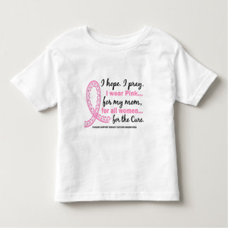 I Wear Pink For My Mom Filigree Pink Ribbon Toddler T-Shirt