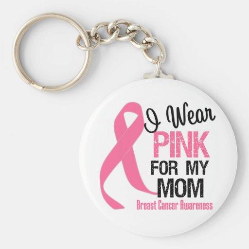 I Wear Pink For My Mom Keychain