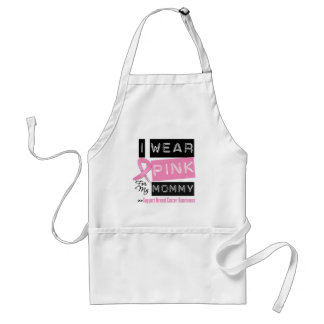 I Wear Pink For My Mommy Breast Cancer.png Aprons