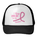 I Wear Pink For My Mummy 26 BREAST CANCER Mesh Hats