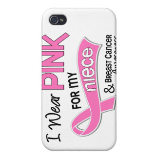I Wear Pink For My Niece 42 Breast Cancer iPhone 4/4S Cases